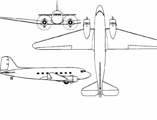 3-View Drawings for the DC-3 Project