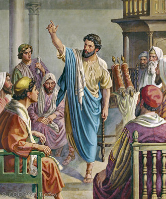 Paul Preaches in the Synagogue