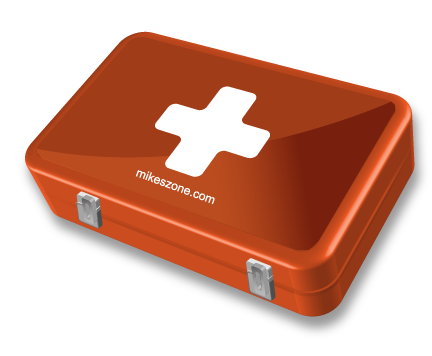 MikesZone First Aid Kit Stylized With Illustrator
