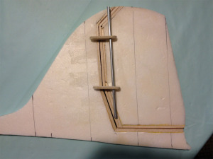 DC-3 Rudder And Vertical Stabilizer And Hinge