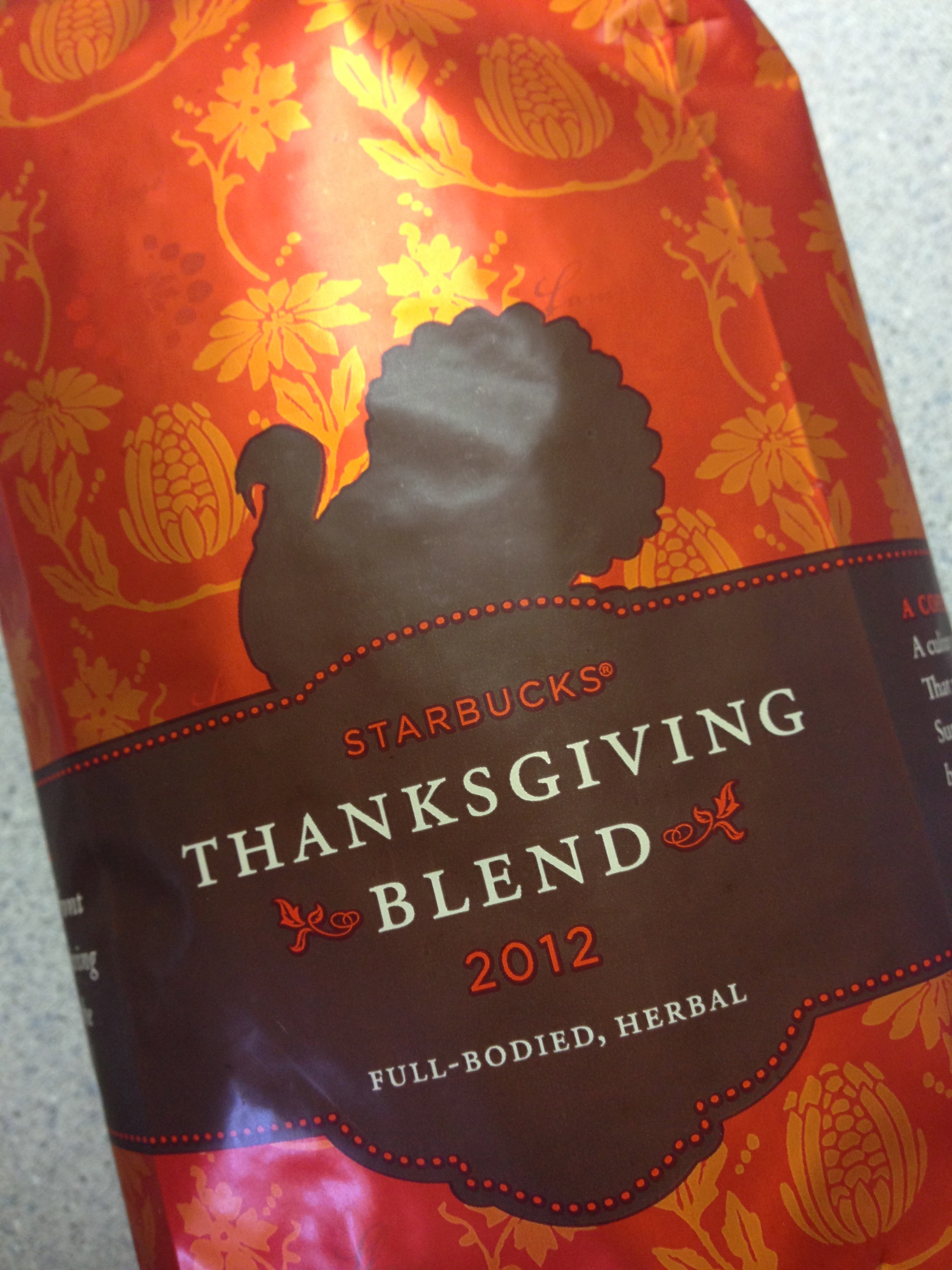 Starbucks Coffee Thanksgiving Blend