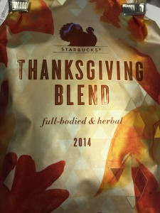 Starbucks Thanksgiving Blend 2014